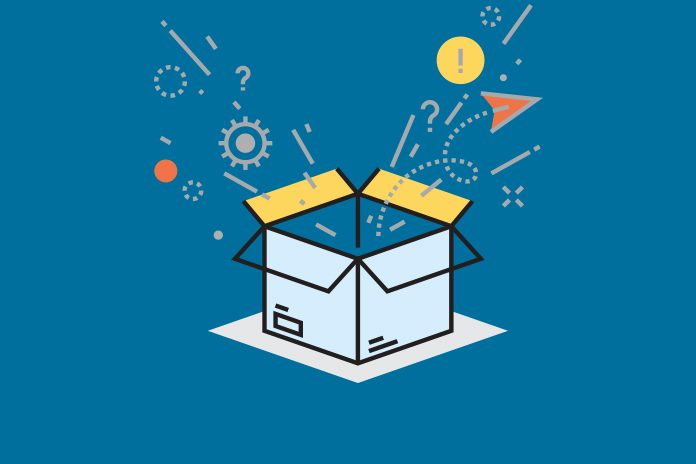 Image of a box with lots of things coming out of it to show Will this be the year in which pharma sales and marketing teams use augmented intelligence to successfully exploit infinite data? Improve your sales insight with AI.