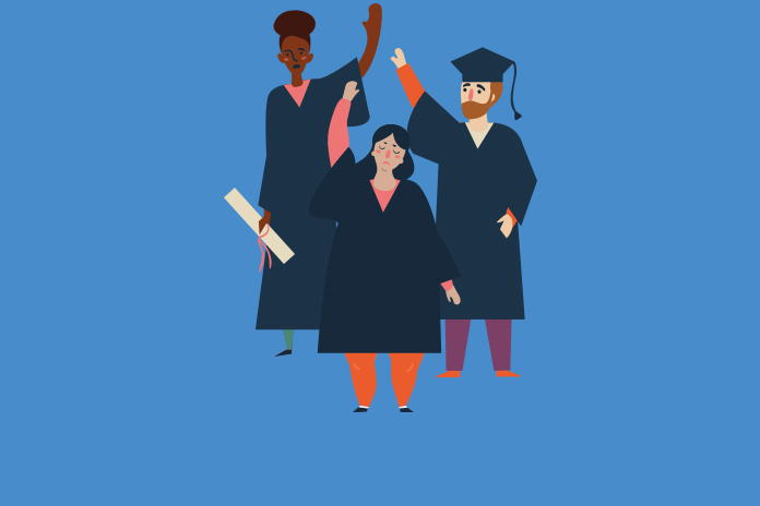 Image of three graduates to show Addressing the skills shortage in life sciences